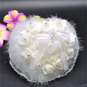 Lace Bird Feather Wedding Ring Collection Box - WHITE 21*15*10CM