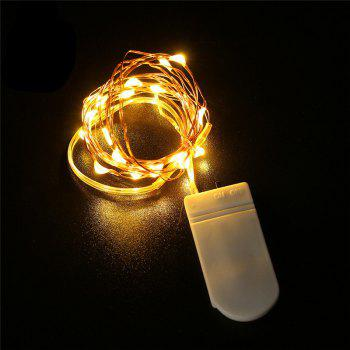LEDs Powered Copper Wire String Fairy Light Lamp Flexible - WARM WHITE