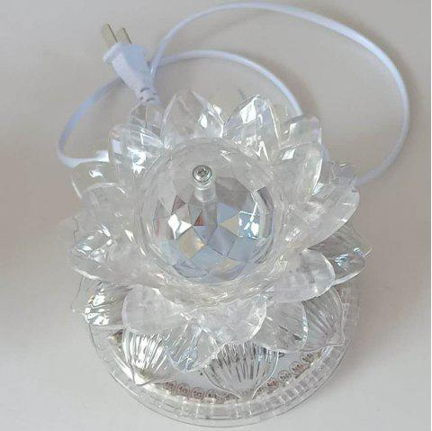 1Pc Lotus Lamp Creative Design Personalized Light Decoration - TRANSPARENT 12.1CM*12.1CM&17.2CM