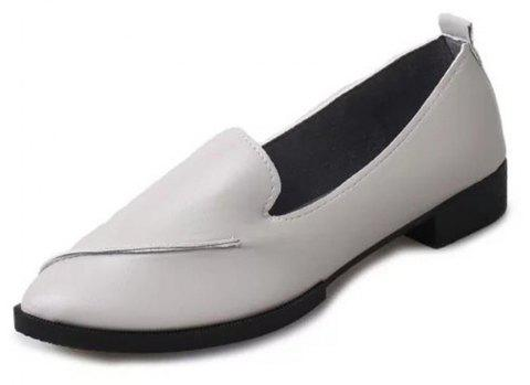 Casual Shoes with Pointed Tips - GRAY EU 37