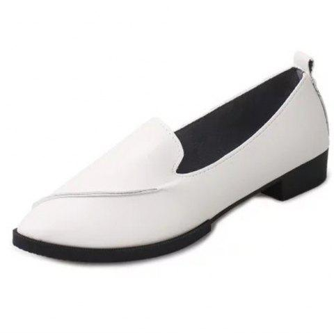 Casual Shoes with Pointed Tips - WHITE EU 36