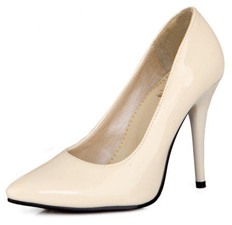 Sexy Womens Shoes with High Heels Pointy Wedding Reception - APRICOT EU 46