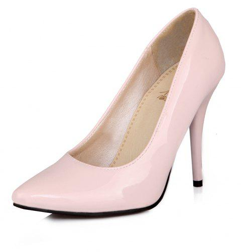 Sexy Womens Shoes with High Heels Pointy Wedding Reception - PINK EU 47