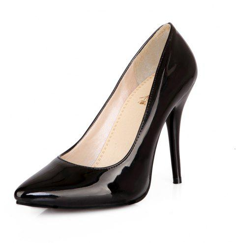 Sexy Womens Shoes with High Heels Pointy Wedding Reception - BLACK EU 38