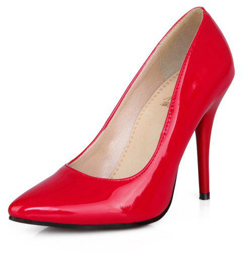 Sexy Womens Shoes with High Heels Pointy Wedding Reception - RED EU 36