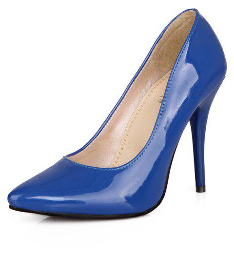 Sexy Womens Shoes with High Heels Pointy Wedding Reception - NAVY BLUE EU 38