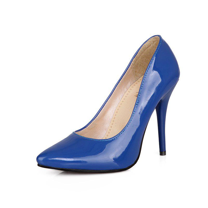 2018 Sexy Womens Shoes With High Heels Pointy Wedding Reception Navy
