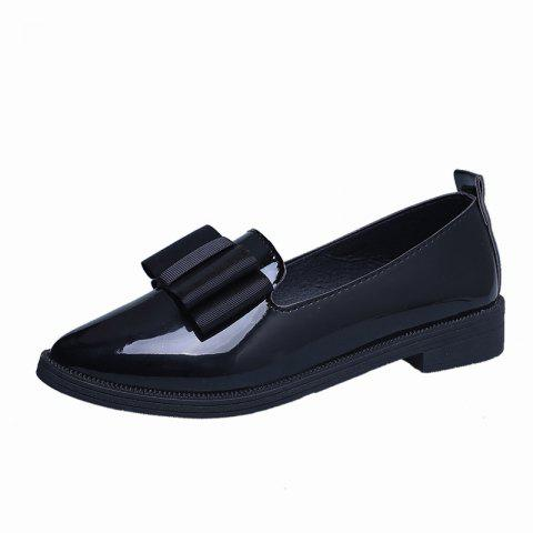 Low Heeled Women's Pointed Shoes - BLACK EU 38