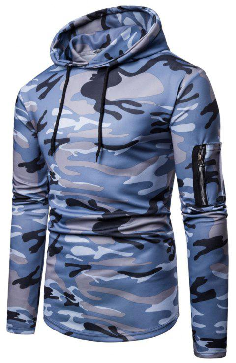 Men's  Autumn Winter Casual Fashion Camouflage Sweatshirt - multicolor A 3XL