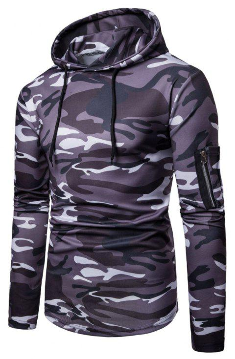 Men's  Autumn Winter Casual Fashion Camouflage Sweatshirt - multicolor D L
