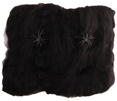 Halloween Spider Web Haunted House Bar Horror Decoration - BLACK 20G