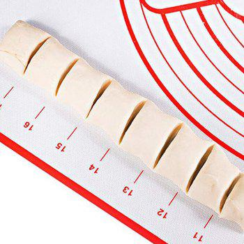 Non-Stick Silicone Baking Mat Kneading Pad Sheet Glass Fiber Rolling - RED