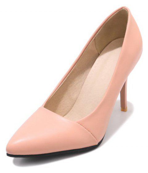 Wedding Shoes with Stiletto  Solid Color - PINK EU 39