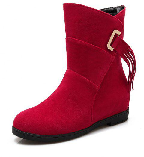 Suede Sup Boots in Snow Boots - RED WINE EU 42
