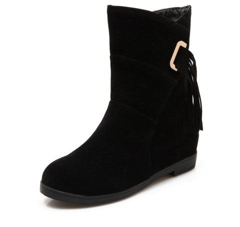 Suede Sup Boots in Snow Boots - BLACK EU 35