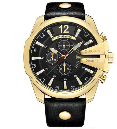 CURREN Top Luxury Popular Brand  Quartz Gold Watches Men - GOLD