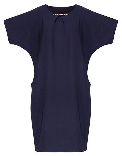 Plus-size for Vacation Tour Summer Slimming Dress - MIDNIGHT BLUE 5XL
