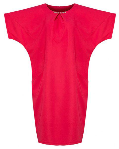 Plus-size for Vacation Tour Summer Slimming Dress - ROSE RED 3XL
