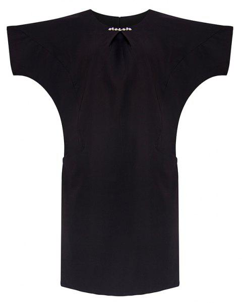 Plus-size for Vacation Tour Summer Slimming Dress - BLACK 5XL