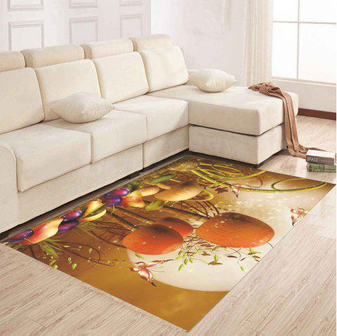 Small Mushroom Patterned Floor Mat Sitting Room Carpet - SANDY BROWN 120X160CM