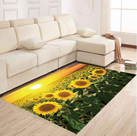 Simple North Europe Style Rug Sunflower Pattern Floor Mat Living Room Bedroom - SAFFRON 80X120XM