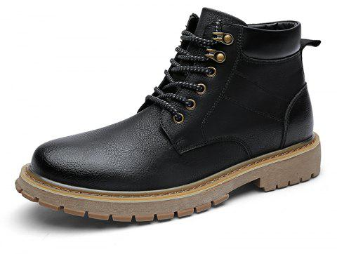 ZEACAVA New Casual Men's Help Tooling Boots - BLACK EU 40