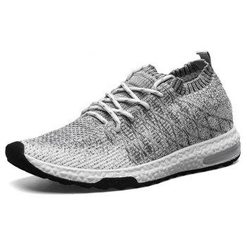 Sports Lightweight Lace Up Men Breathable Mesh Outdoor Slip On Boat Leisure Shoe - GRAY EU 43