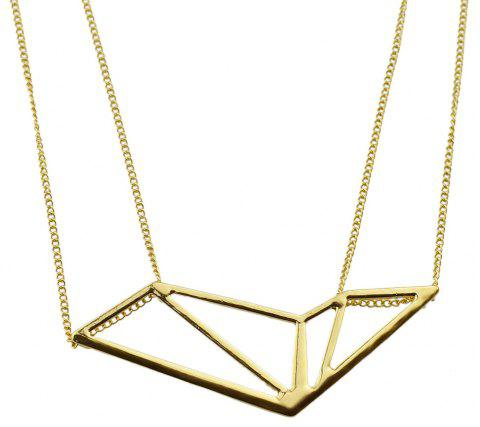 Fashion Metal Chain with Trigonometric Geometry Pendant Necklace - GOLD