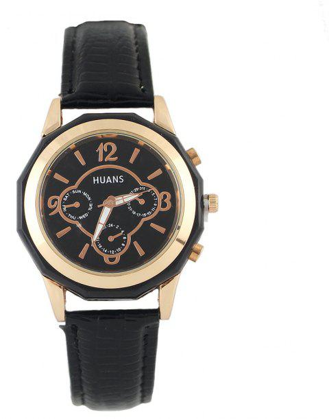 Montre-bracelet simple en cuir PU polychromatique - multicolor A
