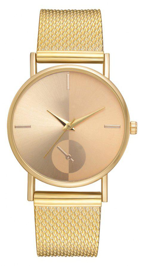 XR2924 Ladies Simple Casual Mesh Alloy Watch - GOLD