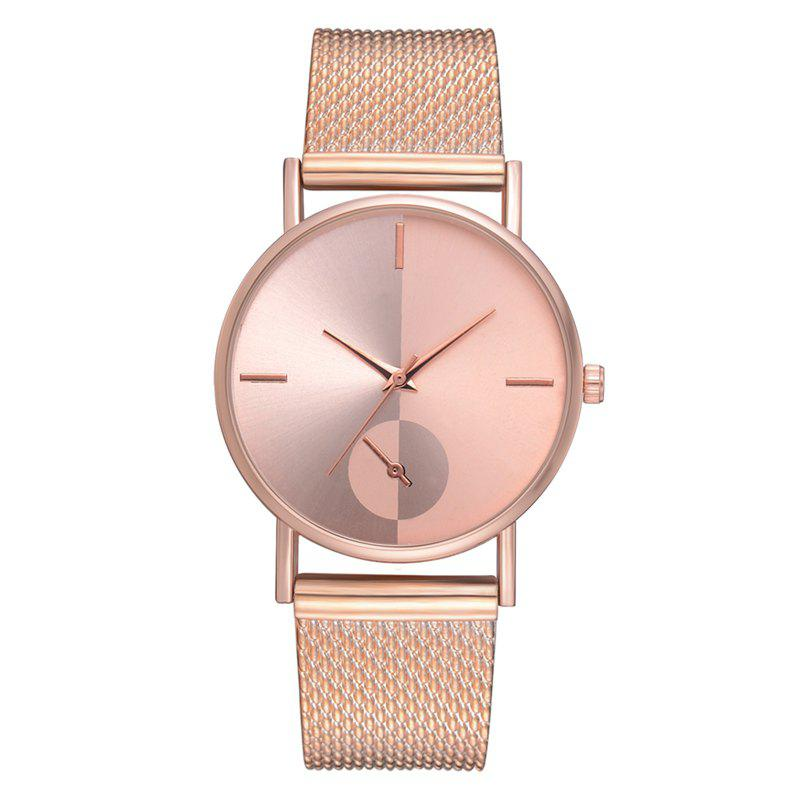 XR2924 Ladies Simple Casual Mesh Alloy Watch - ROSE GOLD