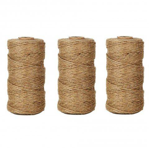 328 Feet Natural Jute Twine Best Arts Crafts Gift Durable DIY Hemp Rope - TAN 3PCS