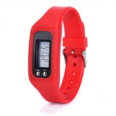 New Sports Watch LED Pedometer Watch - RED
