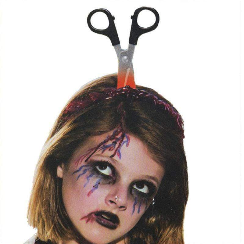 Halloween Funny Scary Hair Hoop Bandeau Décoration Terror Props - multicolor B