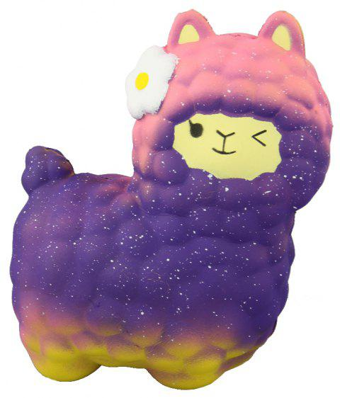 Jumbo Squishy Purple Alpaca Toys - multicolor