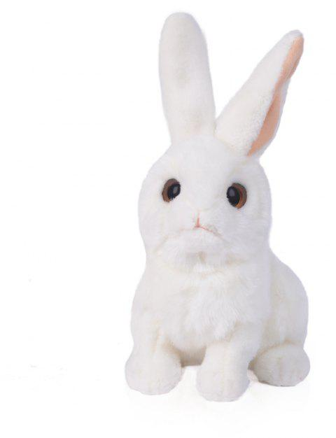 Rabbit 10 Inch Realistic Stuffed Animal Plush Bunny By Tiger Tale Toys - WHITE