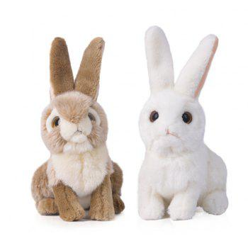 Rabbit 10 Inch Realistic Stuffed Animal Plush Bunny By Tiger Tale Toys - GRAY