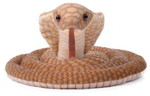 Plush Toy Cobra Stuffed Animal Reptile 70 Inches - BROWN