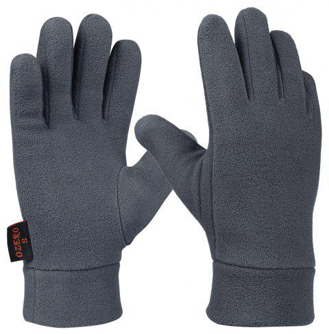 OZERO Polar Fleece Warm Gloves Winter Outdoor Sports - GRAY L