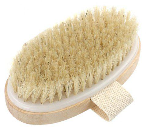 Hot Dry Skin Body Soft Natural Bristle The SPA The Wooden Bath Shower Brush - BEIGE