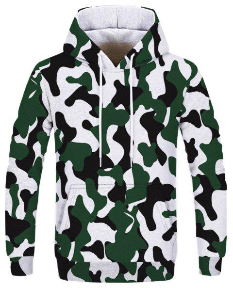 Fashion Trend Men's Printed Camouflage Hoodie - multicolor A XL