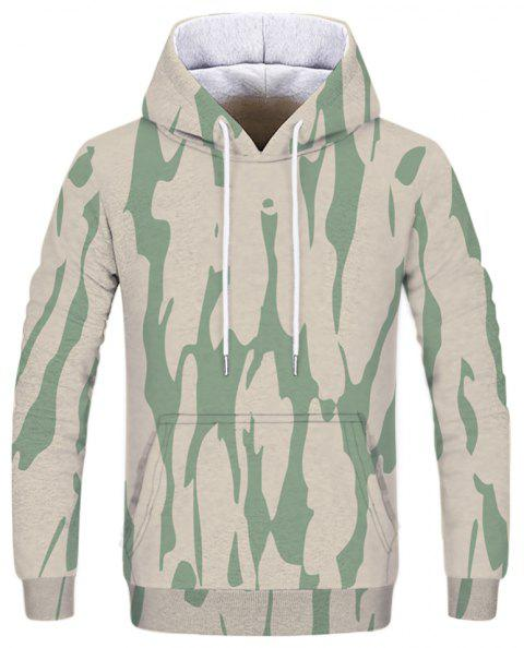 Fashion Trend Men's Printed Camouflage Hoodie - multicolor B L