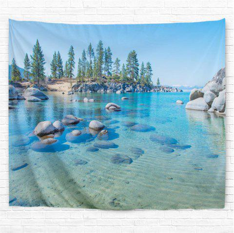 Clear Lake Wate 3D Printing Home Wall Hanging Tapestry for Decoration - multicolor W203CMXL153CM