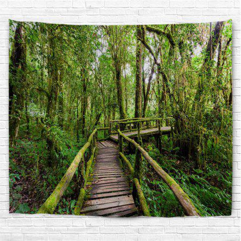 Thailand Rainforest 3D Printing Home Wall Hanging Tapestry for Decoration - multicolor W230CMXL180CM
