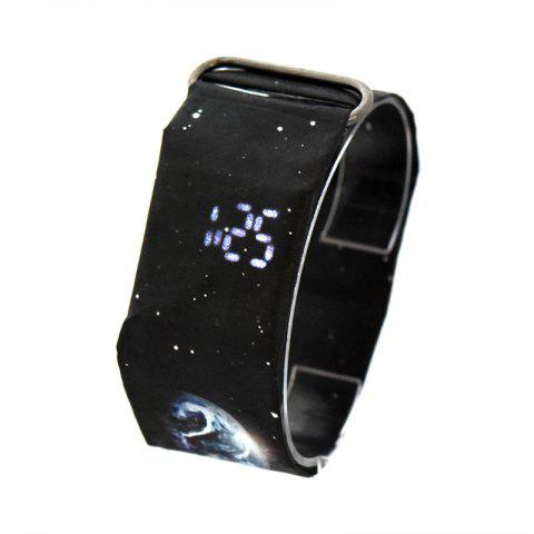 Creative Paper Watch LED Waterproof Clock Tyvek Paper Strap Digital Watches - multicolor E
