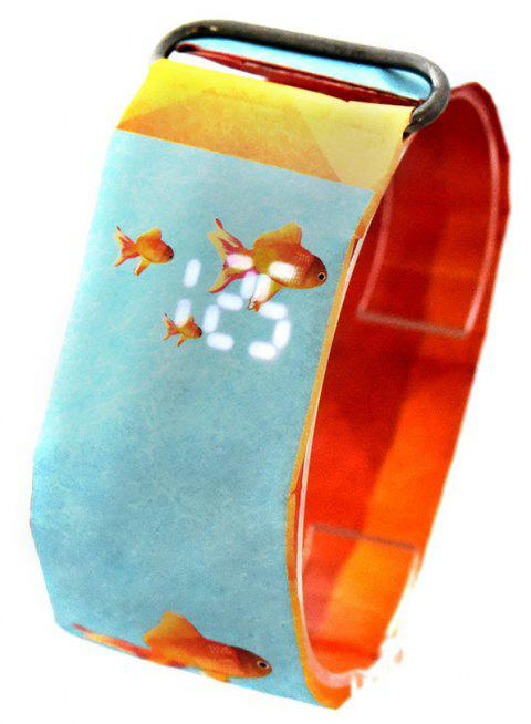 Creative Paper Watch LED Waterproof Clock Tyvek Paper Strap Digital Watches - multicolor D