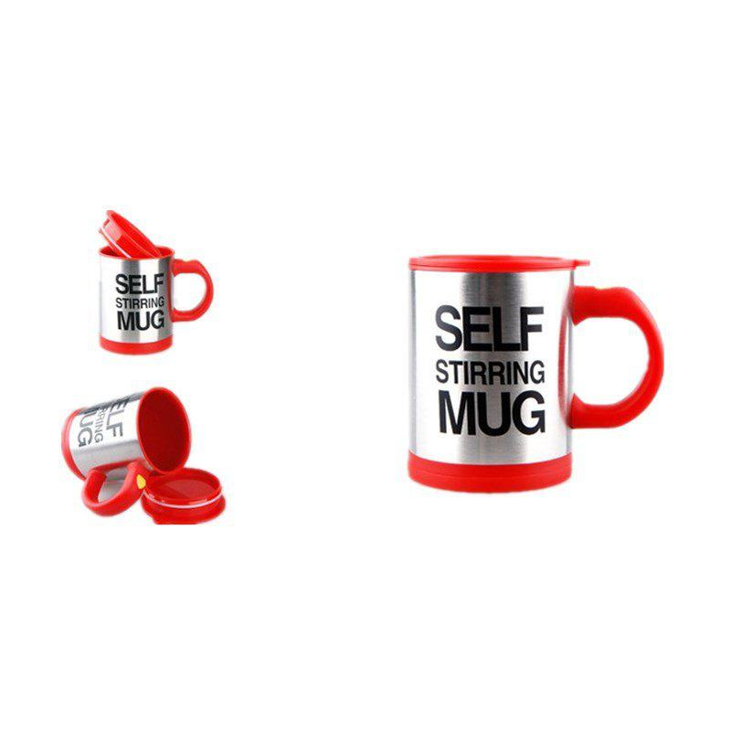 Electric Mug Automatic Mixing Coffee Cup - RED