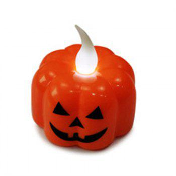 Halloween Party Electronic Candle Pumpkin Lantern - multicolor A
