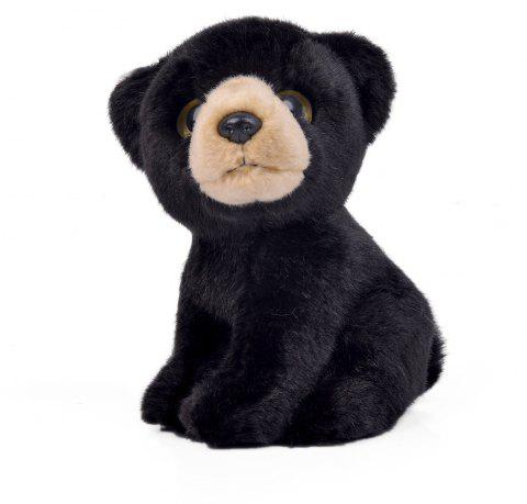 Wishpets Stuffed Animal - Soft Plush Toy for Kids - 7 Inch Black Bear - BLACK