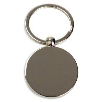 Perpetual Calendar Metal Key Chain Pendant Decorative Gift - SILVER